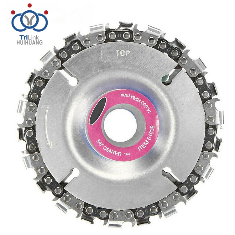 Circular Saw Blade Woodworking Slotting Angle Chain Wheel Grinder Chainsaw Disc